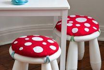 Pilzstühle / Ikea und Co