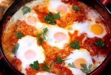 Shakshuka. huevos cena