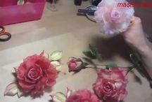 videos flores tela