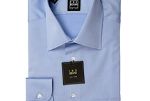Ike Behar Blue Twill Shirt
