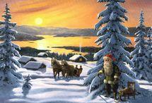 joulukortteja Jan Bergelind