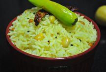 Rice Recipes / Lemon Rice, Coconut Rice, Kushka