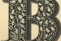 Letter B / representations of the letter B
