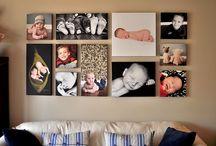 stěna s fotkami