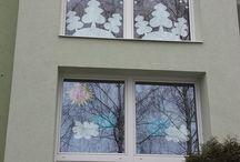 Výzdoba oken / vánoce