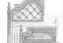 Furniture Designs-Freehand Drawings