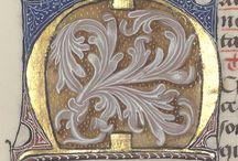 Kaligrafia: inicjały malowane