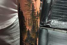 Tatouages thème forêt