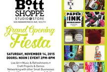 The Bott Shoppe: Mamaroneck, NY / The Bott Shoppe: Studio & Store is part store, part gallery, part design studio, part party! This unique pop-up curates an eclectic mix of products, services and events to nurture the creative arts community. The Art of Fun!  Located at 606 Mamaroneck South, in Mamaroneck, NY just 35 minute Metro-North ride from Grand Central in NYC.