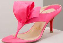 Christian Louboutin Satin Tulip Thong Sandal Pink