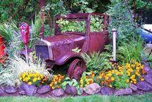 old cars flower pot / παλια αυτοκινητα που εχουν γινει γλαστρες
