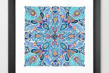 ZSALTO patterns / Hand made watercolor patterns and mandalas