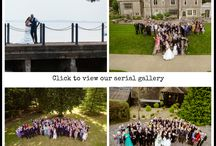 Aerial wedding photography / Aerial wedding images by www.bayimages.co.uk