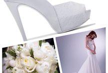wedding idea / shoes and bride