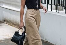 Beige trousers outfits