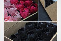 Fleurs / Roses en origami et autres fleurs en papier