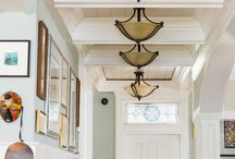 Ceilings that wow / A ceiling can define a room.  It adds color, style, definition, and over all feel. Here are a few great examples of how to take your ceiling to the next level.