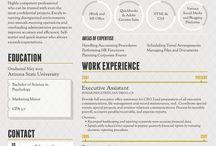 CV Ideas / CV, work related docs
