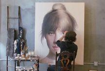 Artist Studio / Peinture  sculptures