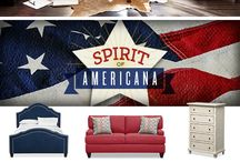 Americana / Show off your patriotic pride in style with The Spirit of Americana Collection. Inspired by a love of all things U.S.A., this homey and heartfelt collection offers a contemporary twist on this classically country design. / by American Signature Furniture