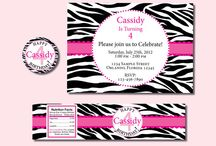 Ashlynn zebra party