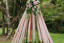 Une décoration d'exception de rubans de mariage