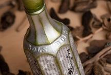decoupage butelki