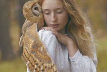 Owl's love. / All about owls, owls art, pictures with owls, owl and human