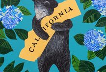 I Love You California / Local artist Annie Galvin paints these California bear hugs from 3 Fish Studios. All the art is made in San Francisco.