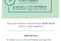 """Studio Calico's Pin Your Dream Craft Room Competition."""