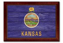 """Kansas, Kansas State, Gift Ideas, Home Decor / SpotColorArt.com Team@SpotColorArt.com We Have Over 20,000 NEW Art Design. Beautiful Home Decor, Art """"New"""" Trends, Inspirational Quotes, Motivational, Hand Made in USA. Update your home décor with stylish, Framed Art, Custom Made Canvas Art! They come available in an incredible range of vibrant colors, sizes and designs to choose from! """"NOW"""" On SALE Start $19.99 -"""
