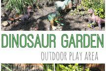 Montessori garden playing