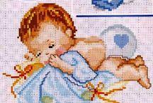 punto croce baby copertine 2*