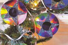 Dekoracje na choinkę z CD