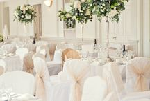 Classic white and gold wedding style