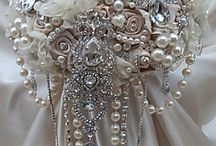 Wedding brooch bouquets - Victorias Wedding Dress Outlet £29.99 - £39.99 / Beautiful hand made bridal bouquets from Victorias Wedding Dress Outlet - 42-44 Old Street, Ashton U Lyne. OL6 6LB