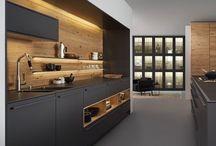 cuisine noire bois et blanc