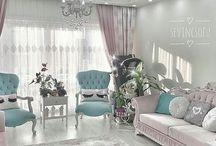 en şık oturma odası