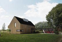 Housing HLINSKO / DESIGN OF WOODEN FAMILY HOUSE FOR FOUR MEMBER FAMILY IN THE COUNTRYSIDE
