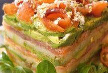 ENSALADAS :sándwiches, pasteles salados,