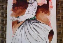 kaligrafi / kaligrafi ve resim