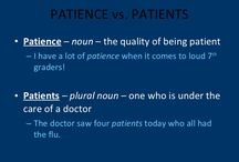 PATIENCE vs. PATIENTS