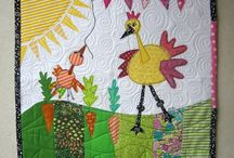 bird, quilts / Fun, funny, and fantastic bird inspired quilts. Visit Fleur de Lis Quilts at www.fleurdelisquilts.blogspot.com #fleurdelisquilts, #marymarcottequilts