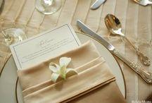 Napkin Displays / Creative ways to display napkins