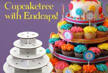 Special Sales / Free shipping on Mini Round Cupcaketree with end caps. Visit www.cupcaketree.com
