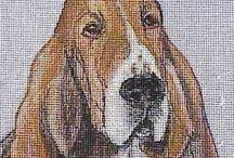 Needlepoint Kits / Hand Painted Needle Point Kits of the animals, dog breeds we love by Hot Diggity Dog Fabrics™
