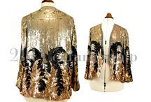 Art Deco Sequin Jacket ~ Gilbert Adrian Look / https://www.etsy.com/uk/listing/259282365
