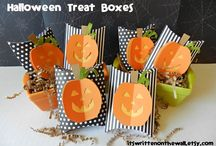 Halloween Treats / Everything Halloween, from food treats to treat boxes, treat holders, Paper crafts and more