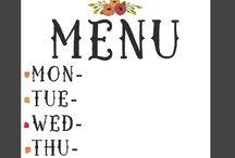 printouts menus