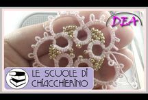 Tatting,frivolite,chiaccherino tutorials